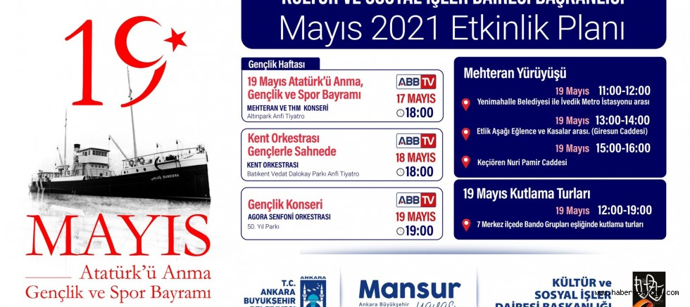 Başkent'te, 19 Mayıs Ruhu Yaşatılacak!