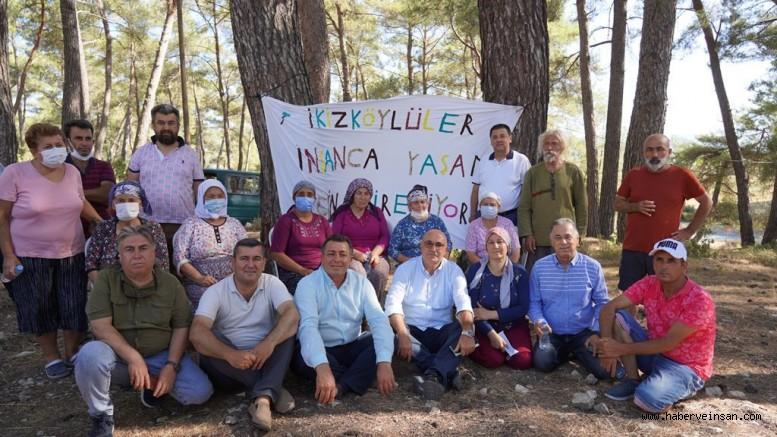 CHP'liler İkizköy'e Destek İçin Akbelen Ormanlık Alanındaydı