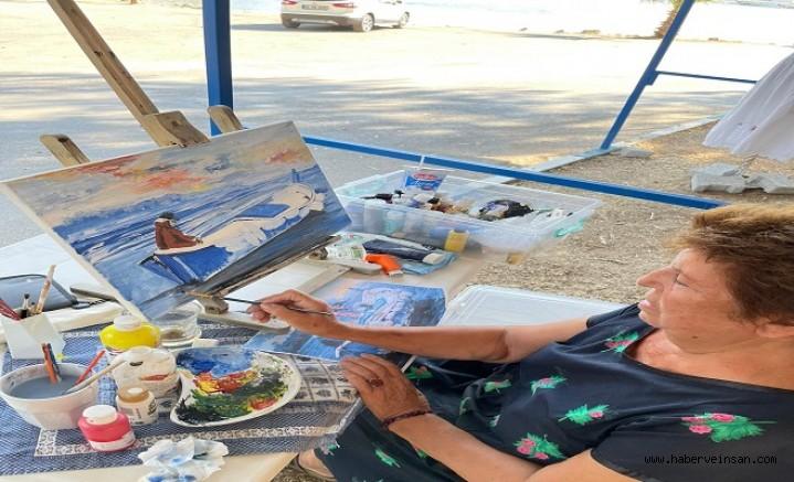 İasos'ta, Limana Karşı Sanatla Farkındalık Resim Etkinliği