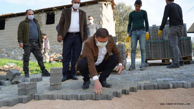 Milas Belediye Başkanı Tokat, kırsal mahallelerde yapılan çalışmaları yerinde inceledi
