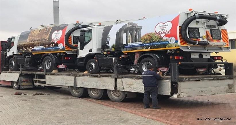 Milas Belediyesi Yol Süpürme Araçları Aldı